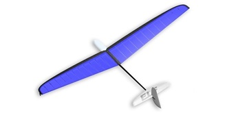 RC Flug Vladimir ELF DLG blau 1000mm