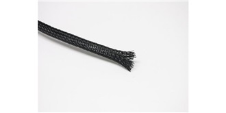 Kabel Gewebeschlauch 8mm schwarz 1m