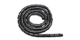 Kabel Spiralschlauch 6mm schwarz 1m