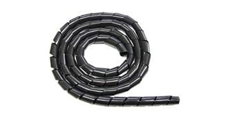 Kabel Spiralschlauch 10mm schwarz 1m