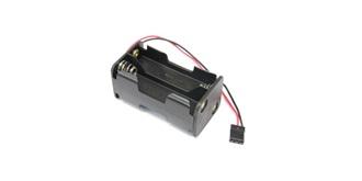 Batteriebox 4x AA Zellen, Würfel, JR Stecker