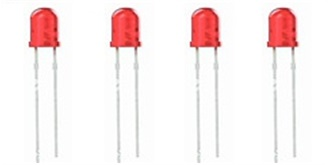 LED 3mm rot-diffus 4-19V 4St.