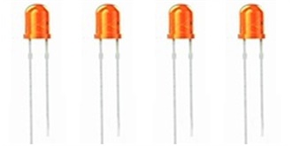 LED 3mm orange-diffus 4-19V 4St.