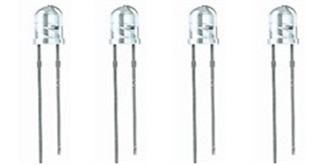 LED 3mm warmweiss 4-19V 4St.