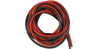 Kabel 6,0mm² Silikon je 2m  rot/schwarz