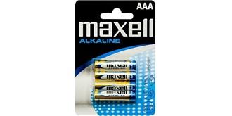 Batterie 1,5V maxell Alkaline AAA Blister 4St