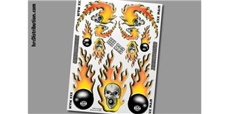Decor xxxMain Sticker Skulls O'Fire