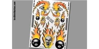 Decor xxxMain Sticker Skulls O'Fire