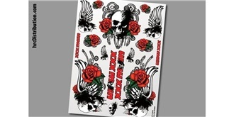 Decor xxxMain Sticker Skull & Roses