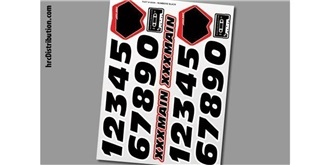 Decor xxxMain Sticker Nummer schwarz