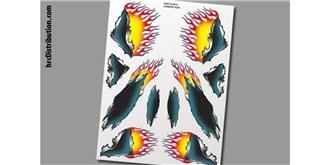 Decor xxxMain Sticker Carbon mit Flammen