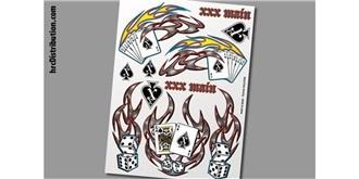 Decor xxxMain Sticker Pokerkarten