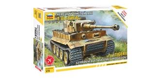 ZVEZDA Panzer Tiger 1 1:72 Kit Plastik Steckbaus..