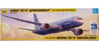 ZVEZDA Boeing 787-9 1:144 Kit Plastik