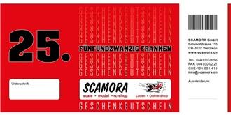 Ladengeschäft Gutschein Wert Fr.  25.-