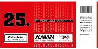 ONLINE Gutschein Wert Fr.  25.-