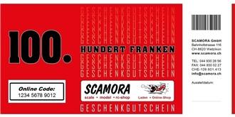 ONLINE Gutschein Wert Fr. 100.-