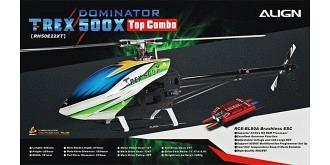 RC HELI Align T-Rex 500X Dominator TopCombo Beastx