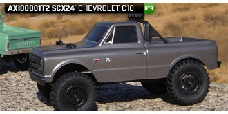 RC Axial SCX24 Chevy Truck grey 1:24 RTR