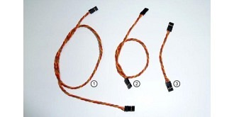 Servo Patchkabel Emcotec 30cm (0,34mm²) 3St