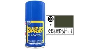 Mr.Color Spray olivegrün (US) S38 semi-gloss 100ml