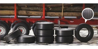 ITALERI Reifen aus Gummi für Auflieger 8St 1:24