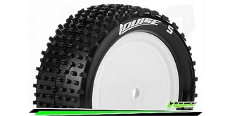 Louise RC - E-HORNET - 1-10 Buggy Reifen - Fertig Verklebt - Soft - Felgen Weiss Hex 12mm