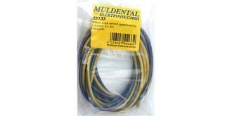 Kabel 0,5mm² Silikon  je 2m  gelb/blau