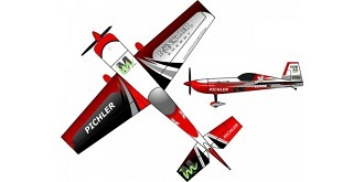 RC Flug RC Factory Extra 330 Münster rot 840mm