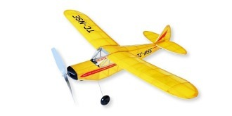 Freiflug Piper SuberCub 530mm Gummimotor Kit Holz