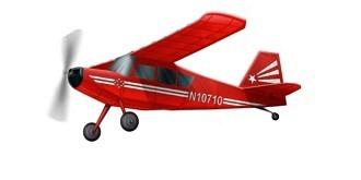 Freiflug Bellanca Citabria 540mm Gummimotor Kit Holz
