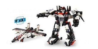 RC Bausteine 2in1 Modell Roboter / Flieger