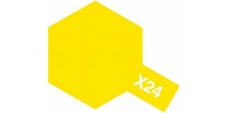 Farbe X  24  gelb klar Acryl transparent 10ml