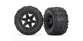 Tires & wheels, assembled, glued (bla ck wheels, Talon EXT tires, foam inserts) (2) (17mm
